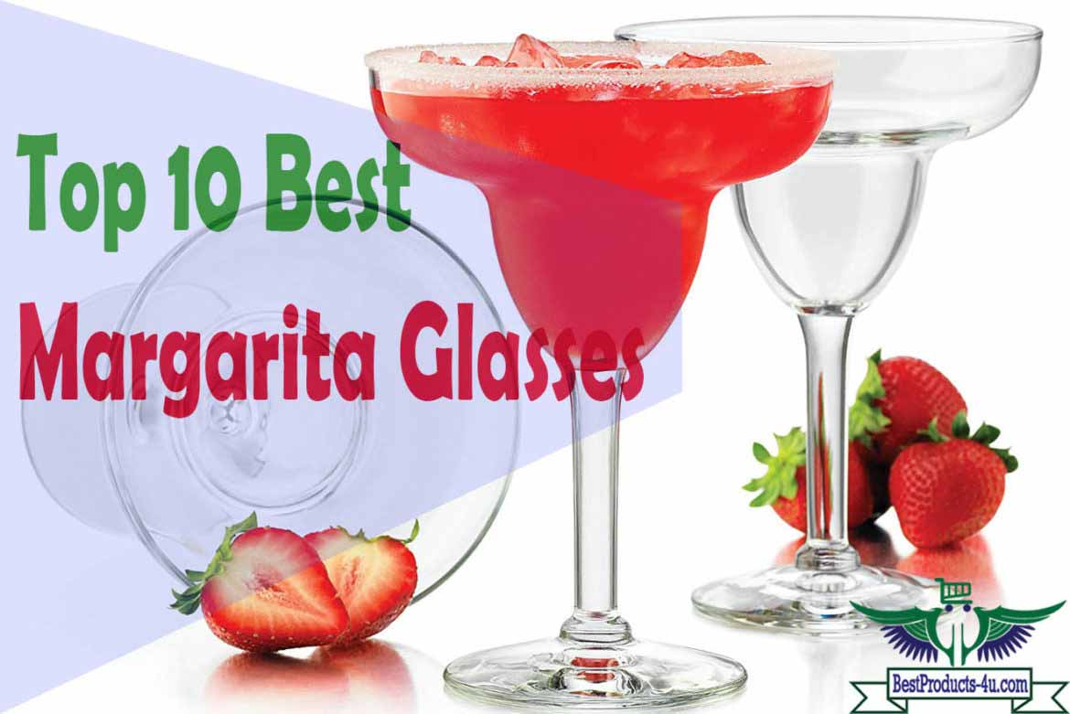 Party Essentials 10 Count Hard Plastic Two-Piece Margarita Glasses 12-Ounce Clear
