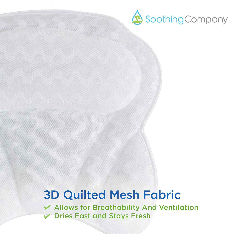 Bath Pillow By Soothing Company|Bathtub Cushion for Neck Head Shoulder /& Back
